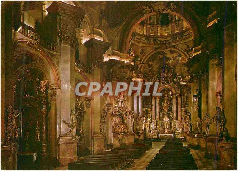 Postcard Modern Praha Malostransk? Chram Mikulase (1704 1755)