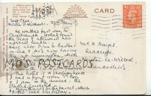 Genealogy Postcard - Hayes - Redcliffe - Newton le Willows - Lancs - Ref 9385A