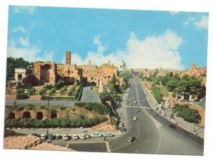 Italy Rome Avenue Imperial Forum Postcard 4X6