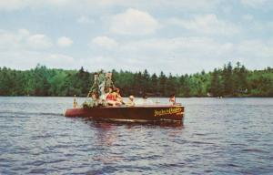 Annual Flotilla (parade) of Motor Boats - Fulton Chain, Adirondacks, New York