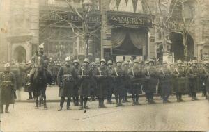 Hungary Budapest Barho Ferenc iron store Gambrinus restaurant military parade