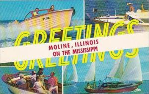 Illinois Moline Greetings Moline On The Mississippi