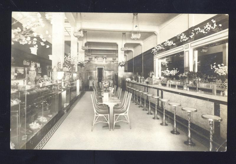 RPPC SAN DIEGO CALIFORNIA BARBOUR CANDY STORE INTERIOR REAL PHOTO POSTCARD