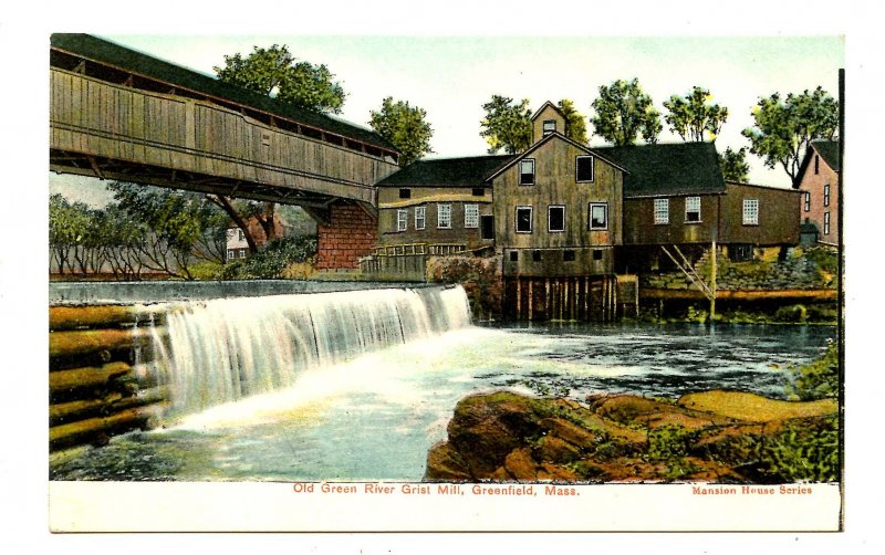MA - Greenfield. Old Green River Grist Mill