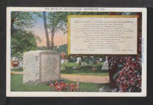 Ann Rutledge Grave,Petersburg,IL Postcard