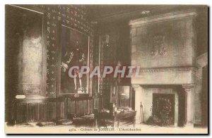 Old Postcard Chateau de Josselin Antichambre