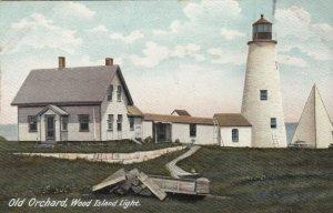 OLD ORCHARD BEACH  , Maine , 1900-10s ; Wood Island LIGHTHOUSE