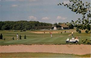 Cable Wisconsin~Telemark Lodge~Golf Course~Putting on Hole #1~Golf Cart~1970s PC