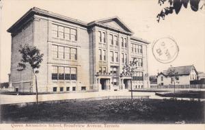 TORONTO, Ontario, Canada, PU-1907; Queen Alexandria School, Broadview Avenue