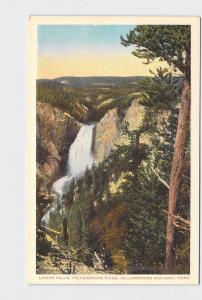 ANTIQUE POSTCARD NATIONAL STATE PARK YELLOWSTONE LOWER FALLS #13
