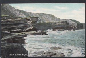 Yorkshire Postcard - View on Brigg at High Tide, Filey   DC2399