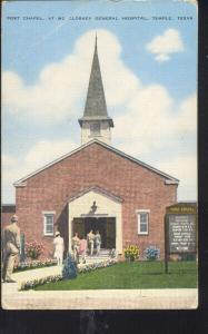 TEMPLE TEXAS MCCLOSKEY GENERAL HOSPITAL VINTAGE POSTCARD CLINTON MO. SARGENT