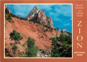 Mt. Moroni & Virgin River Zion National Park Canyon UTAH Postcard