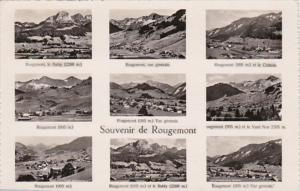 Switzerland Souvenir de Rougemont Multi View 1951  Photo