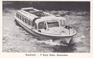 Ferry, Rondvaart, P. Kooij, Rokin, AMSTERDAM (North Holland), Netherlands, 19...