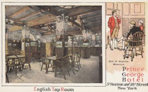 NEW YORK CITY, New York, 1910s; English Tap Room, Prince George Hotel, 5th Av...