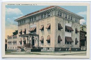 Eccentric Club Gloversville New York 1920s postcard