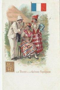 La Poste a la GUYANE FRANCAISE , 1902 , 1902