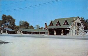 Hopkinsville Kentucky~Wadlington Rock Motel~Cafe~1950s Postcard