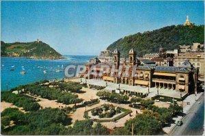 Postcard Modern San sebastian 5102 alberdi gardens Eder