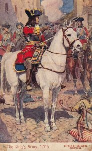 BARCELONA, Spain, 1900-1910s; The King's Army, 1705, Officer Of Dragoons