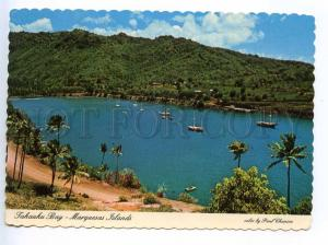 241446 MARQUESAS ISLANDS Tahauku  Bay RPPC POLYNESIE 1980 year