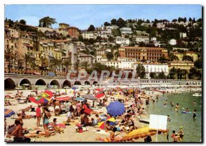 Modern Postcard The wonderful sites of the French Riviera Menton The Beach ha...