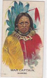 B A T Vintage Cigarette Card Indian Chiefs No 10 War Captain nambe Tribe 1930
