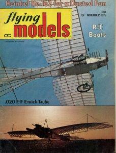 Vintage Flying Models Magazine November 1975