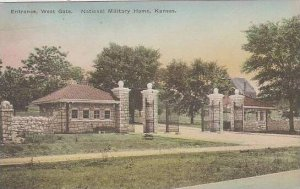 Kansas National Military Home Entrance West Gate Albertype