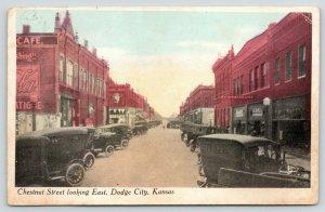 Dodge City Kansas~Chestnut Street~Restaurant~Clothing Store~Close Out~1918 Cars