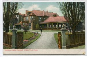 Northern Pacific Hospital Missoula Montana 1910c postcard