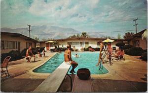 The Sunrise Hotel & Apartments Palm Springs California Pool Unused Postcard F3