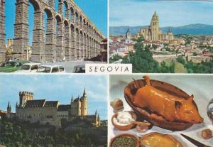 Spain Segovia Multi View Details Of The City