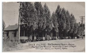 1940 Day's Village Cottages, Old Orchard Beach, Maine Postcard