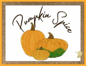 Set of 6 Fine Art Postcard Pumpkin Spice, Celebrating Autumn, Fall Greetings