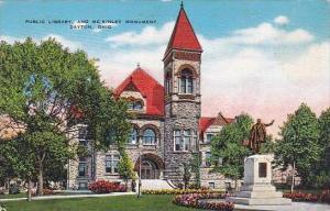 Ohio Dayton Public Library And Mckinley Monument