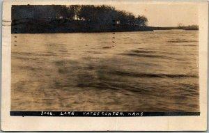 YATES CENTER, Kansas RPPC  Postcard Lake View J. BOWERS Photo / 1908 Cancel