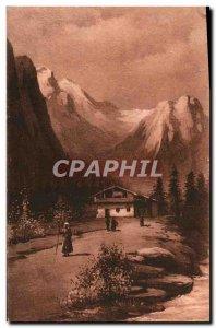 Old Postcard Alpages