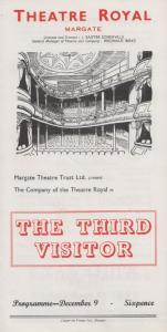 The Third Visitor Gerald Anstruther Rare Theatre Royal Margate Kent Programme