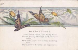 To A Sick Friend With Butterflies 1920