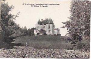 Manoir de Kerallic, France.  Unused prime condition. Old black & white