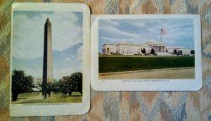 Lot of 2 VINTAGE Postcards FOLKARD Folded, Sealed UNUSED 1920's WASHINGTON D.C.