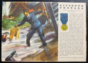 Mint Italy Patriotic Postcard WW2 Gold Medal Of Military Valor Giuseppe Fontana