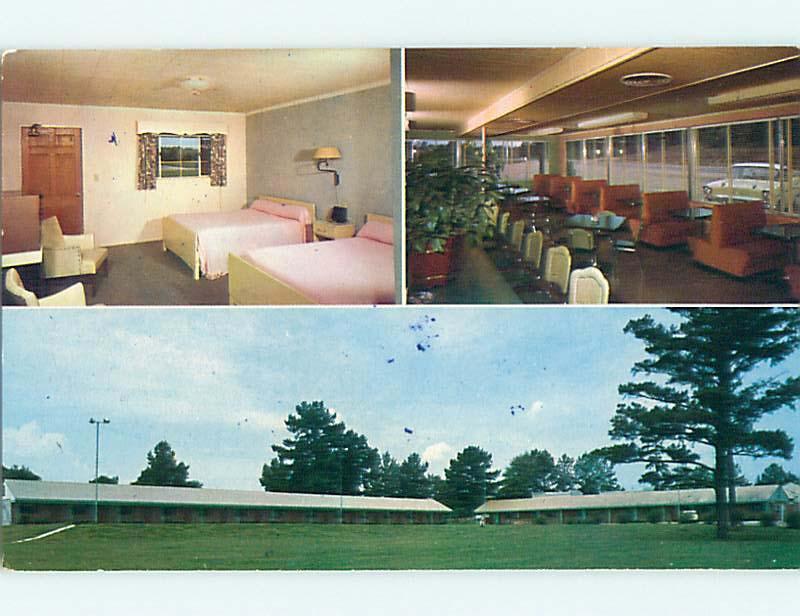 Unused 1950s PINES MOTEL Cafe RESTAURANT Opelika Alabama AL S6802