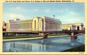 Pennsylvania Philadelphia Post Office and Pennsylvania Railroad Station At 30...