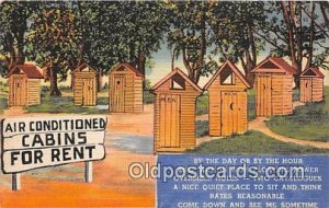 Air Conditioned Cabins for Rent Outhouse 1944