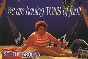We Are Having Tons Of Fun In South Carolina Fat Lady On Hammock