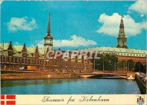 Modern Postcard Christiansborg Copenhagen Denmark Stock Exchange