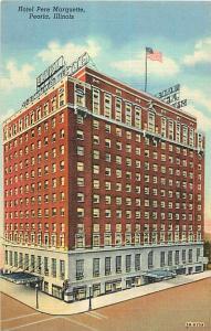 Hotel Pere Marquette Peoria Illinois IL Linen